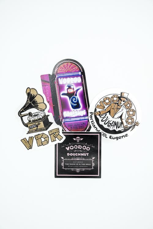 Voodoo Doughnut Sticker Set Pack of 4