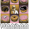 9 grid of doughnuts with baron in middle and voodoo text below